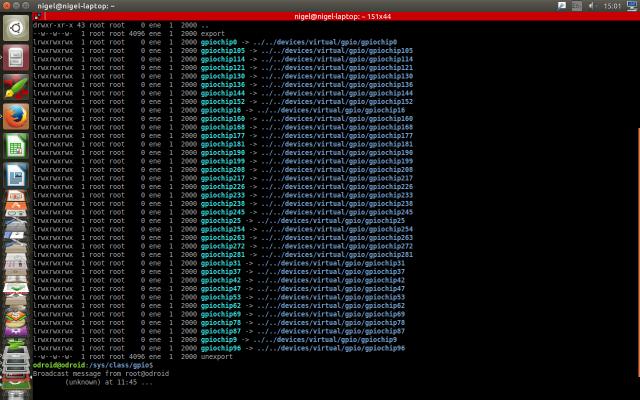 Linux GPIO control