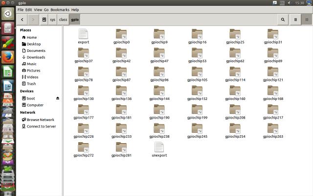 /sys/class/gpio folder in an Odroid U2