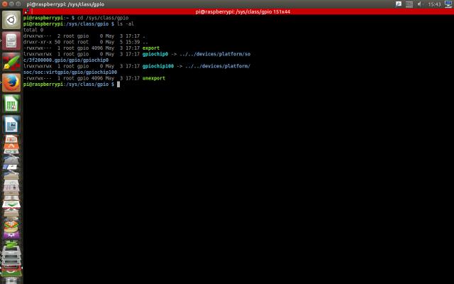 /sys/class/gpio on a raspberry pi 3